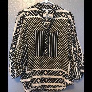 Diane Von Furstenberg Printed Blouse Top